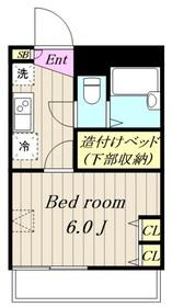 本厚木駅 バス24分「山王坂上」徒歩6分2階Fの間取り画像