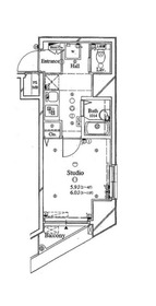 アーバイル東京NEST 6階Fの間取り画像