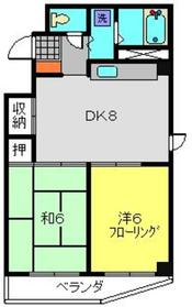 木曽屋第3ビル2階Fの間取り画像