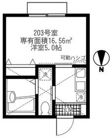 モンステラ妙蓮寺A2階Fの間取り画像