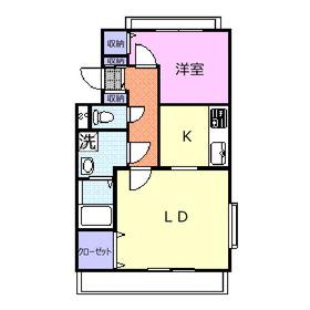 桑原ビル弐番館3階Fの間取り画像