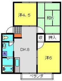 コズミックシティ宮沢第一A1階Fの間取り画像