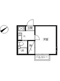 スカイピア綱島B1階Fの間取り画像
