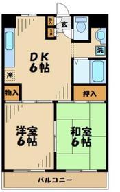 諏訪ハイム134階Fの間取り画像