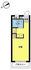 スカイコート新宿第71階Fの間取り画像