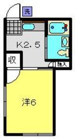 日の出荘1階Fの間取り画像