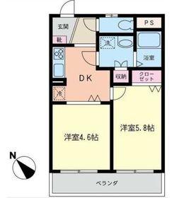 サニーサイド・ヴィレッジ3階Fの間取り画像