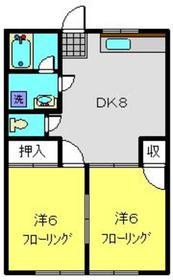 綱島駅 バス11分「天満宮停」徒歩2分1階Fの間取り画像