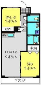 綱島駅 徒歩18分2階Fの間取り画像