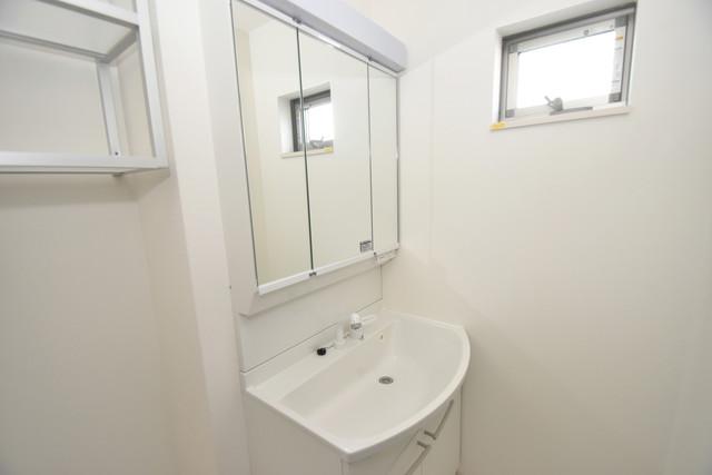 クリエオーレ巽中Ⅰ 独立した洗面所には洗濯機置場もあり、脱衣場も広めです。
