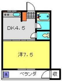 岡村ビル1階Fの間取り画像