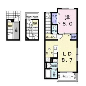 成増駅 徒歩28分3階Fの間取り画像