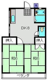 コーポ葵2階Fの間取り画像