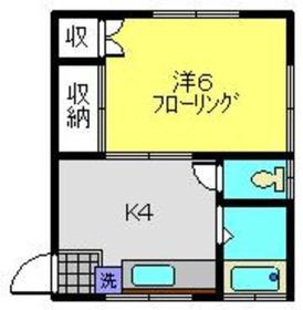 恵荘2階Fの間取り画像