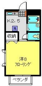 ジュネス峰沢B2階Fの間取り画像