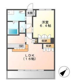 パルティール横濱2階Fの間取り画像