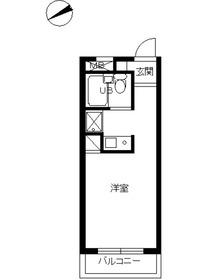 スカイコート新宿第72階Fの間取り画像
