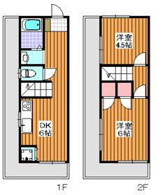 東武練馬駅 徒歩8分1-2階Fの間取り画像