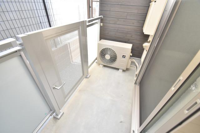 リブリ・布施 心地よい風が吹くバルコニー。洗濯物もよく乾きそうです。