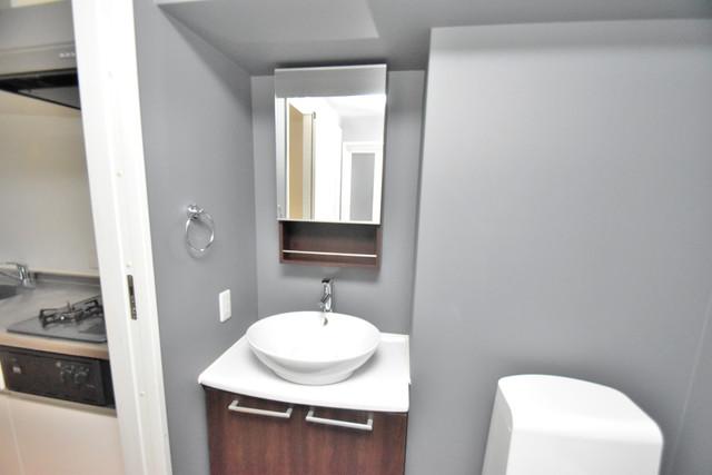 プログレス長瀬 洗面所はゆったりと余裕のある広さです。