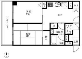 ユーコート稲田堤1階Fの間取り画像