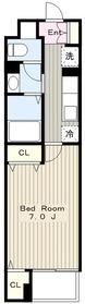 メゾンドルノン1階Fの間取り画像