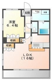 パルティール横濱4階Fの間取り画像
