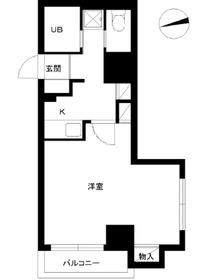 スカイコートヴァンテアン早稲田7階Fの間取り画像