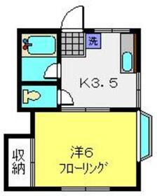 ホワイト・ドミ2階Fの間取り画像