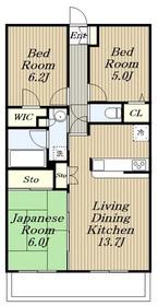 ライオンズステーションプラザ鶴間4階Fの間取り画像
