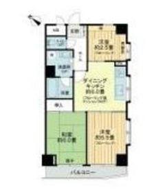 ライオンズマンション伊勢佐木町北6階Fの間取り画像