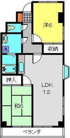 綱島駅 徒歩14分4階Fの間取り画像