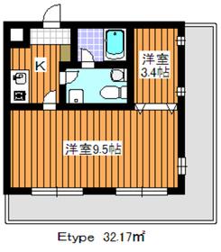 マリアージュ213階Fの間取り画像