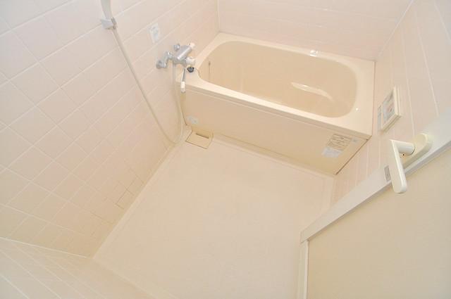 オルゴグラート長田 ちょうどいいサイズのお風呂です。お掃除も楽にできますよ。