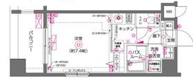 ZOOM横濱EAST2階Fの間取り画像