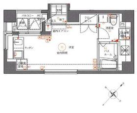 アランシア鶴見4階Fの間取り画像