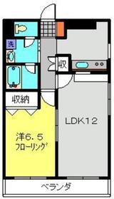 武蔵小杉駅 バス11分「市民ミュージアム前」徒歩1分2階Fの間取り画像