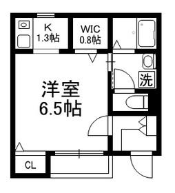 メゾンクローバーⅡ1階Fの間取り画像