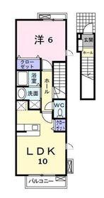 鶴ヶ峰駅 徒歩14分2階Fの間取り画像