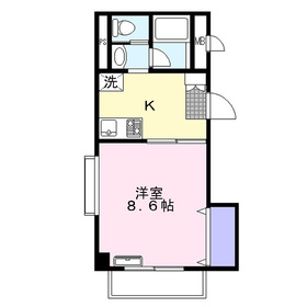 メルベーユふじみ野2階Fの間取り画像
