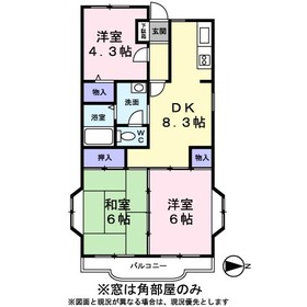 第2TOWAヒルズ4階Fの間取り画像