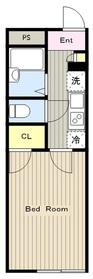 レオパレスフレンズ1階Fの間取り画像