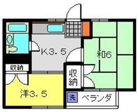 ドミールルナ2階Fの間取り画像