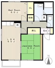 サンハイムA2階Fの間取り画像