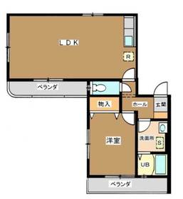 HIGH BEACH TAKANAWA1階Fの間取り画像