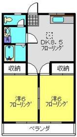 メドゥズハウス2階Fの間取り画像