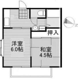 パナグリーンU1階Fの間取り画像