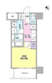 ルメイユ横浜関内6階Fの間取り画像