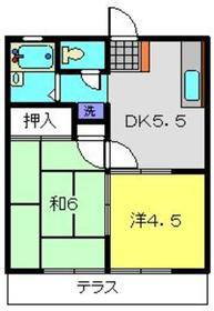 サンクレール1階Fの間取り画像