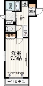 阿佐ヶ谷駅 徒歩5分2階Fの間取り画像